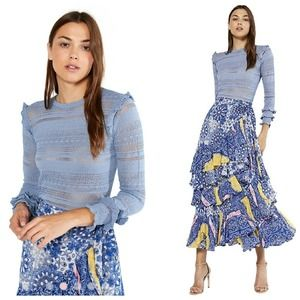 Misa Los Angeles Kelly Knit Top in Dusty Blue